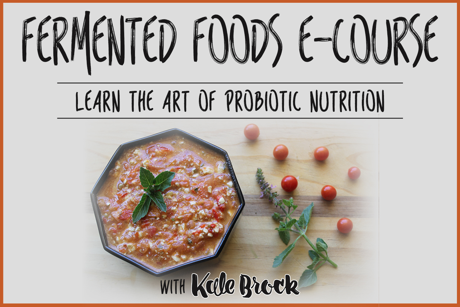 Fermented Foods E-Course Learn the Art of Probiotic Nutrition!!